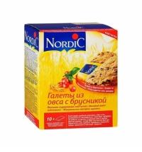Галеты Nordic овсяные с брусникой 300г