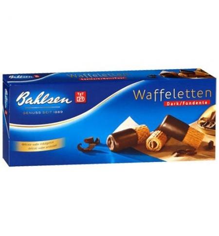 фото: Вафельные трубочки Bahlsen в темном шоколаде 100г