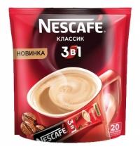 Кофе порционный Nescafe Классик 3в1 20шт х 16г растворимый, пакет