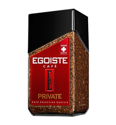 фото: Кофе растворимый Egoiste Private 100г стекло