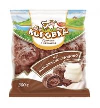 Пряники Рот Фронт Коровка с начинкой 300г, шоколадное молоко