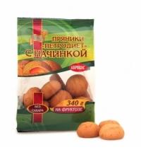 Пряники на фруктозе Петродиет абрикосовые 340г
