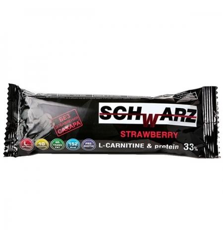 фото: Протеиновый батончик Schwarz 33% 50г, клубника, с добавлением L-карнитина