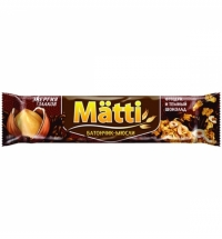 Батончик мюсли Matti фундук/темный шоколад 24г