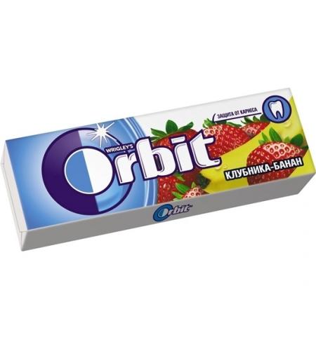 фото: Жевательная резинка Orbit клубника-банан 10шт