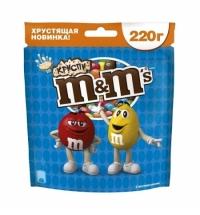 Драже M&m's Crispy с хрустящей начинкой 220г