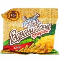 Сухарики Воронцовские ветчина/ cыр 80г
