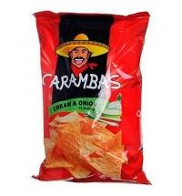 Чипсы Carambas кукурузные сметана/ лук 150г