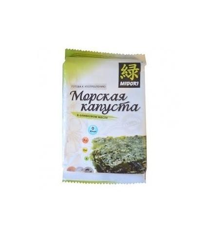 фото: Чипсы Мидори из морской капусты в оливковом масле 5г,