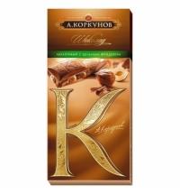 Шоколад Коркунов молочный шоколад с цельным фундуком 90г
