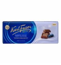 Шоколад Fazer черничный йогурт 200г, молочный
