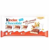 Шоколад Kinder молочный 23.5г х 4шт, со злаками