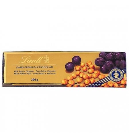 фото: Шоколад Lindt Swiss Premium молочный 300г, с изюмом и фундуком