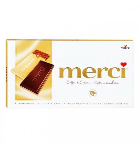 фото: Шоколад Merci кофе и сливки молочный, 100г