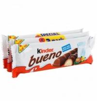 Батончик шоколадный Kinder Bueno вафельный 3шт х 43г