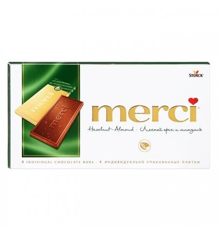 фото: Шоколад Merci лесной орех и миндаль молочный, 100г