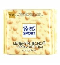 Шоколад Ritter Sport 100г Extra Nut с орехом и хлопьями белый