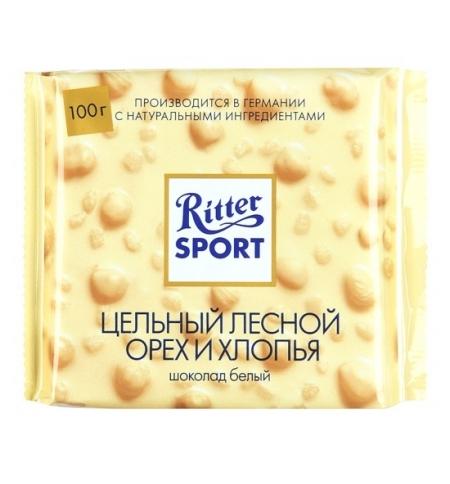 фото: Шоколад Ritter Sport 100г Extra Nut с орехом и хлопьями белый