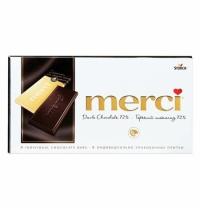Шоколад Merci 72% какао горький