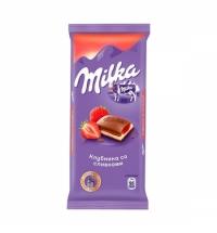 Шоколад Milka клубника со сливками 90г