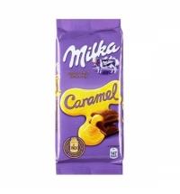 Шоколад Milka с карамелью 90г
