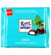Шоколад Ritter Sport 100г с мятой темный
