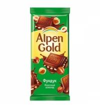 Шоколад Alpen Gold молочный фундук 90г