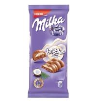 Шоколад Milka Bubbles молочный с кокосом 97г