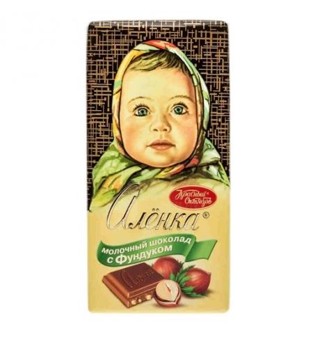 фото: Шоколад Красный Октябрь Аленка с фундуком 100г
