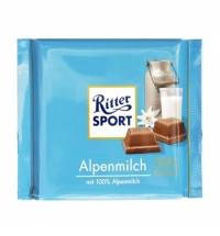 Шоколад Ritter Sport 250г 40% какао молочный
