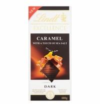 Шоколад Lindt Lindor темный карамель с солью, 100г