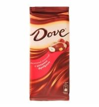 Шоколад Dove. молочный 90г, с цельным фундуком