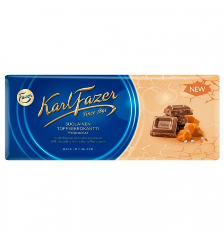фото: Шоколад Fazer молочный 200г, соленая карамель