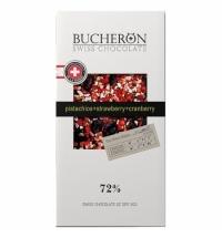 Шоколад Bucheron Swiss Chocolate Village с клюквой/фисташкой/клубникой 100г, горький