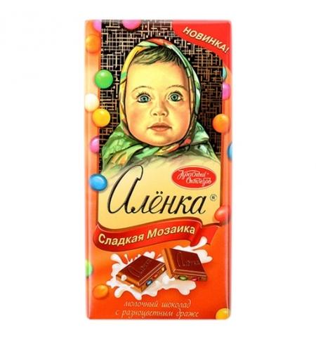 фото: Шоколад Красный Октябрь Аленка с драже 100г