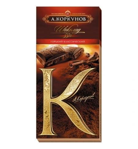 фото: Шоколад Коркунов горький классический 90г, 55%