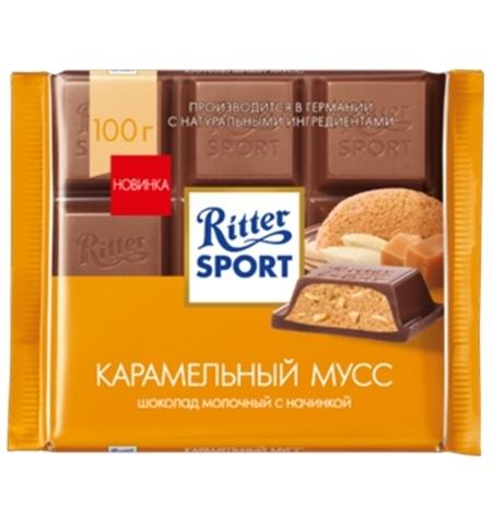 фото: Шоколад Ritter Sport 100г с карамельным муссом молочный