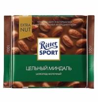 Шоколад Ritter Sport 100г с цельным миндалем молочный