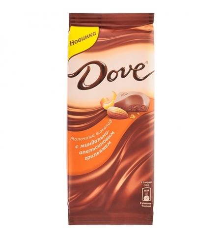 фото: Шоколад Dove. молочный 90г, с миндально-апельсиновым грильяжем