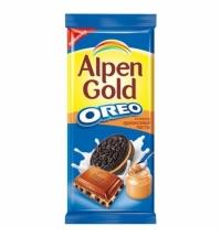 Шоколад Alpen Gold Oreo арахисовая паста 95г