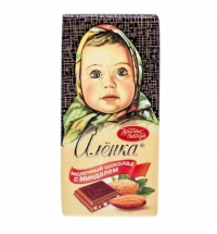 Шоколад Красный Октябрь Аленка с миндалем 100г