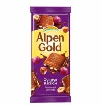 Шоколад Alpen Gold фундук и изюм 90г