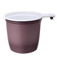 Чашка одноразовая бело-коричневая 50шт/уп, 200мл