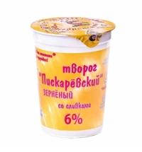 Творог Пискаревский 6% зерновой, 350г