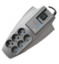 Сетевой фильтр Pilot Zis X-Pro 6 розеток серый, 7м