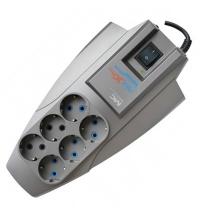 Сетевой фильтр Pilot Zis X-Pro 6 розеток серый, 1.8м
