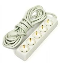 Удлинитель электрический Старт 5 розеток 5м, белый, с заземлением