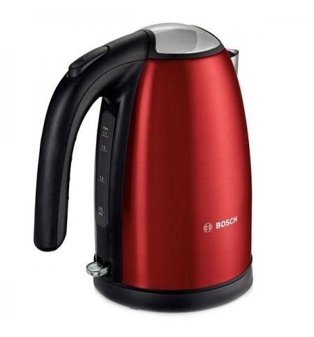 фото: Чайник электрический Bosch TWK7804 красный металлик 1.7 л, 2200 Вт