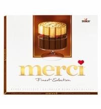 Конфеты Merci 4 вида горького шоколада 250г