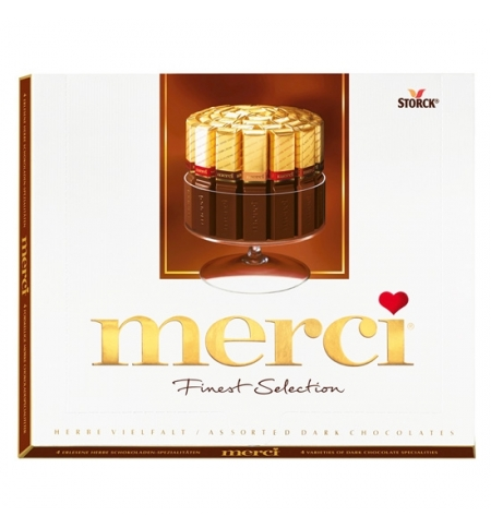 фото: Конфеты Merci 4 вида горького шоколада 250г